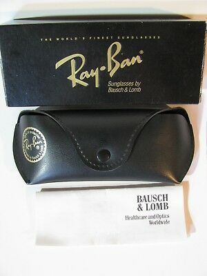 Vintage 1993 B&l Ray Ban Olympian I Deluxe Box, Case & Paperwork Sunglasses