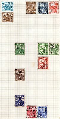 DMB Stamps - Tunisia -  Stamps on Album page from Old Collection   -  MH & Used