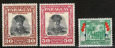 Paraguay  - 3 Stamps  - MH