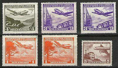 Chile - 6 Stamps  - MH