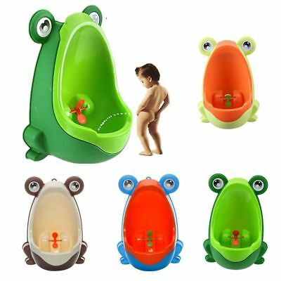 NEW Frog Shaped Kid Baby Potty Toilet Training Urinal Boys Pee Trainer Bathroom