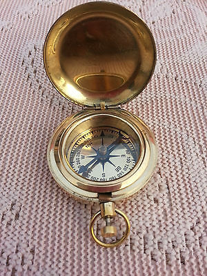 Push Button Nautical Maritime Compass Directional Pocket compass Owesome Gift.