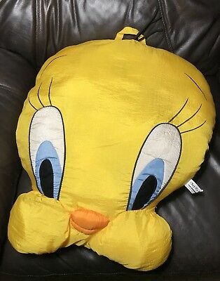 LARGE Vintage 90s Play By Play Tweety Bird Pillow Looney Tunes 1994