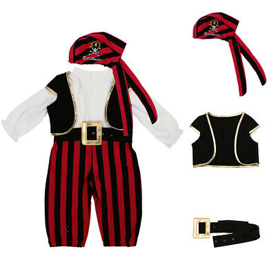 2018 Baby Boy Girl Carnival Pirate Costume Outfit Fancy Dress Party Cosplay Set
