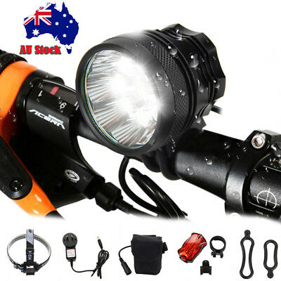 Rechargeable 50000Lm 9x XM-L T6 LED Head Bicycle Lamp Bike Light Headlamp Torch
