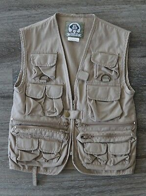 Uncle Milty Kids Tactical Travel Fishing Vest Size Small Khaki