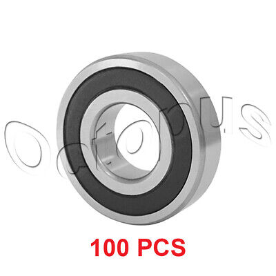 100 Pcs Premium 6801 2RS ABEC3 Rubber Sealed Deep Groove Ball Bearing 12x21x5mm