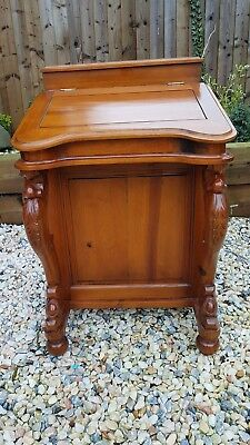 Antique Walnut Davenport Bureau Writing Desk