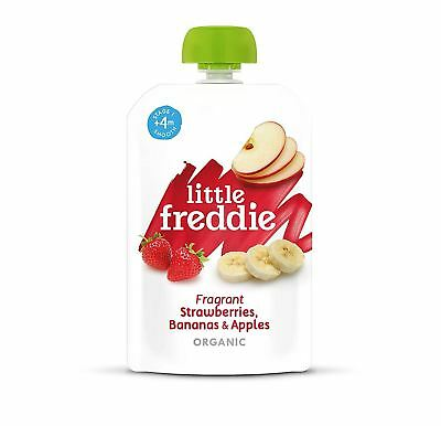 Little Freddie Fragrant Strawberries Bananas & Apples 100g (Pack of 6)