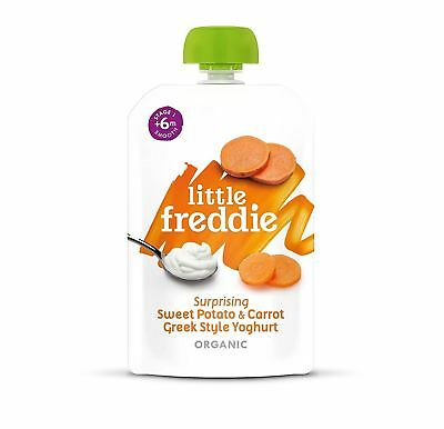 Little Freddie Sweet Potato Carrot & Greek Style Yoghurt 100g (Pack of 6)