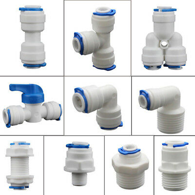 5Pcs Push Fit Pipe Tube Fittings Y-shape Elbow Tee Connector For Water Aquarium