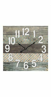 Modern wall clock with quartz movement from AMS AM W9570 NEW