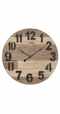 Modern wall clock with quartz movement from AMS AM W9569 NEW