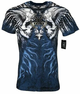 XTREME COUTURE by AFFLICTION Men T-Shirt SILENT SCREAM Cross Biker MMA GYM $40