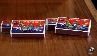 10 Boxes 400 Red Sticks Original Phrayanak Thai Wooden Matches Fire Starters