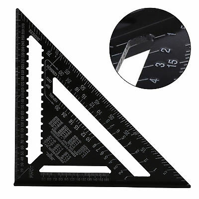 "10"" Aluminum Alloy Speed Square Rafter Triangle Angle Square Measuring Guide"