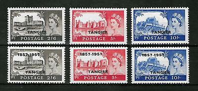 TANGIER MOROCCO AGENCIES 1955-1957 Mint NH 2 Complete Sets VF