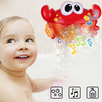 Crab Bubble Maker Automated Spout Bubble Machine Bath Shower Kids Fun Toy