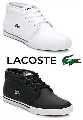 f3e378d33 Lacoste Mens Trainers Ampthill Black or White Leather Lace Up Casual Sport  Shoes ☆ UK Seller ☆ Fast Worldwide Delivery ☆ Top Brands ☆