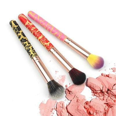 1X Colorful Highlighter Brush Makeup Brush Crack Lacquer Handle Cosmetic Tool