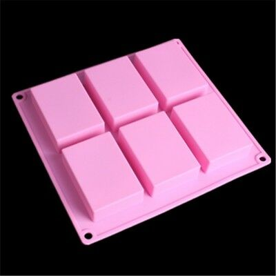 Rectangle Silicone Soap Making Molds Baking DIY Mold For Cake Bakeware Hot Sale