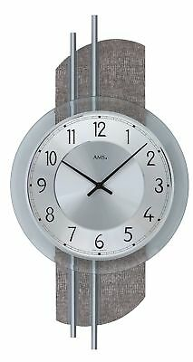 Modern wall clock with quartz movement from AMS AM W9412 NEW