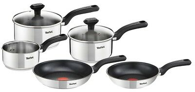 Tefal Comfort Max 5 Piece Set Stainless Steel Cookware Pan Set Induction
