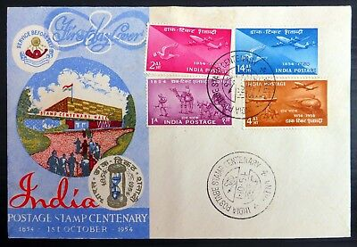 INDIA 1954 Stamp Centenary Souvenir FDC with Handstamp BF683