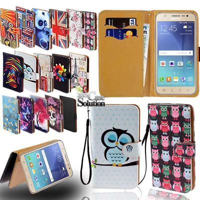 For Various Samsung Galaxy J3 J4 J5  - Leather Wallet Card Stand Flip Case Cover