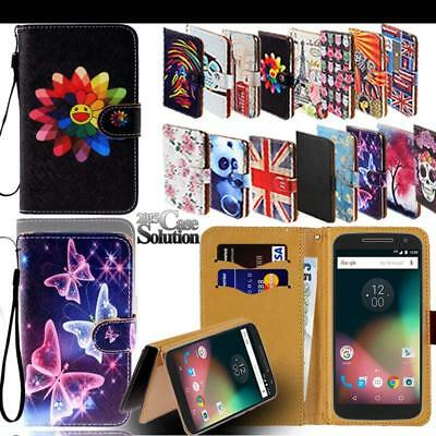 For Various Motorola Moto G SmartPhones - Leather Wallet Stand Flip Case Cover