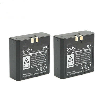 2pcs Godox VB18 Li-ion Battery for V860II V850II V850 V860  Speedlite Flash