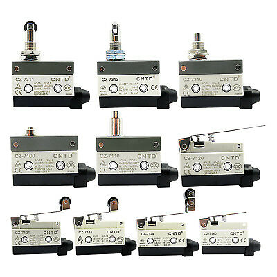 10A 250V Micro Limit Power Supply Switch 1NO 1NC Precision Momentary ON OFF
