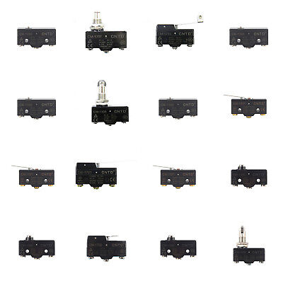 15A Micro Limit Switch Precision Momentary 1NO 1NC 250V Lever Wheel Arm