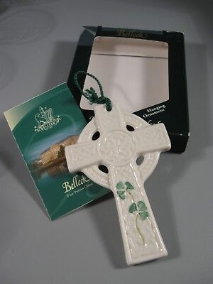 Belleek Hanging Ornament Celtic Cross Ireland