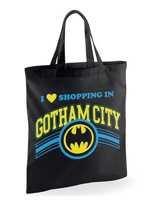 dc comics officiel batman sac fourre-tout en coton gotham city shopping eco réut