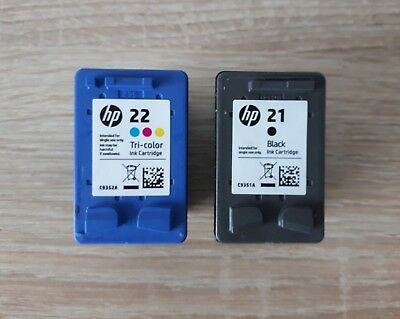 hp Druckerpatronen 21 (black) + 22 (Tri-color)