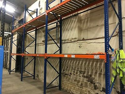 3 Bays Of Stow Heavy Duty Racking Frames 5mx900mm Beams 2700mm x 2000kg