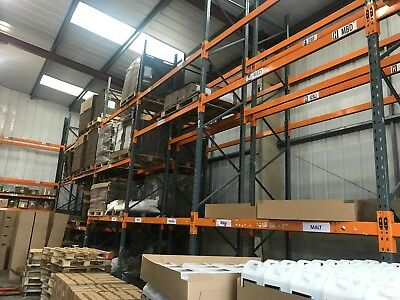 10 Bays Of Dexion Mk3 Heavy Duty Racking Frames 6mx900mm Beams 2700mm x 2000kg