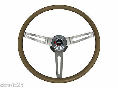 3 spoke comfort grip steering wheel. with GM 4 1/8 mounting hub saddle
