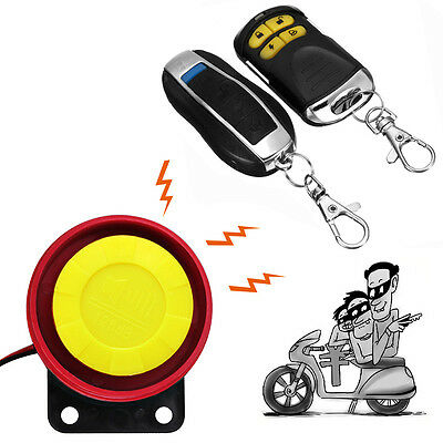 Anti-theft Motorcycle Motorbike Security Alarm System Immobiliser Remote Control