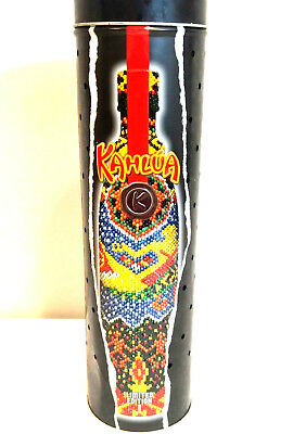 Kahlua Unleash it Light Up Limited Ed 2 Tin Bottle Holder Man Cave Textured 2003
