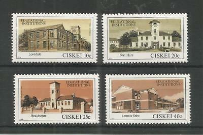 Ciskei 1983 Educational Institutions Sg,43-46 U/m Nh Lot 9518A