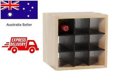 Wooden Timber Wine Bottle Display Storage Cellar Rack Holding Bottles Stand