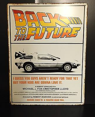Back To The Future Classic Movie Poster Wall Decor Garage Metal Sign 30x40 Cm