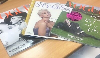 Madonna Vogue Italia Bundle with  British Stylist Mag 60th birthday collection
