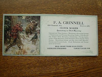 Philip Goodwin Advertising Ink Blotter F.a. Grinnell Vintage