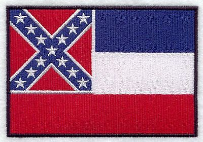 """Mississippi State Flag Embroidered Patch 3"""" x 2"""""""