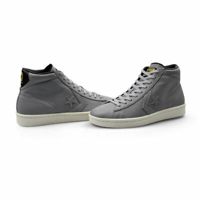 491ab4f9eb0c Converse Womens Mens Leather Mid Trainers PL-76 John Harvard Grey UK 4- UK