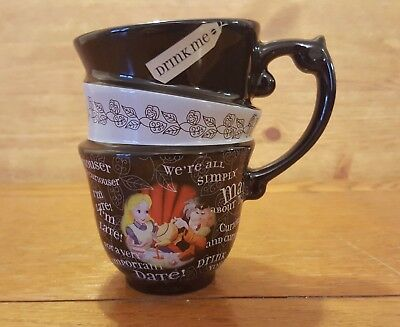 Alice In Wonderland Stacking Stack Mug Cup Gift Disney Store Top Condition