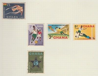 GHANA Collection 1959 Football 8d Founders Day 6d AIRMAIL USED as per scan #